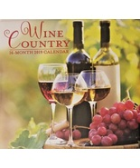 WINE COUNTRY CALENDAR 2019 16-Month Papercraft Vineyard Grapes Tuscan 12... - $5.99