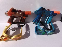 TIGER ELECTRONICS--LAZER TAG TEAM OPS GUNS, 2pc GOGGLES, & CABLES - $46.39