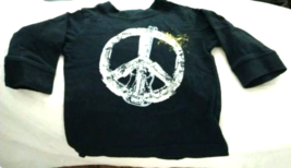 Children's Place Peace T-Shirt Baby Boy Size 6-9 Months Long Sleeves 100% Cotton - $5.99