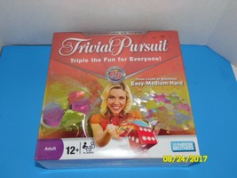 Parker Brothers TRIVIAL PURSUIT NEW SEALED 3 Levels Easy Medium Hard 12+ - $29.05