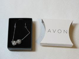 Ladies Womens Avon Sparkle Linear Earrings Silvertone F3360011 NIP;; - $29.69