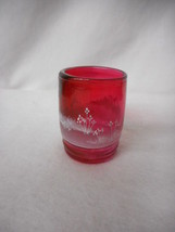 FENTON HANDPAINTED MARY GREGORY CRANBERRY TUMBLER 5971 DG - $40.10
