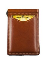 Palm West Leather Minimalist Leather Money Clip Wallet with RFID Blocking Techno - $48.01