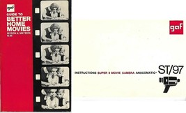 GAF Guide to Better Home Movies & Super 8 Movie Camera Instructions ST/9... - $13.71