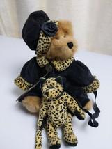 "1990-99 Boyds Bears 20th Anniversary Bailey & Friends Leopard Cat Wuzzies 9"" - $14.82"