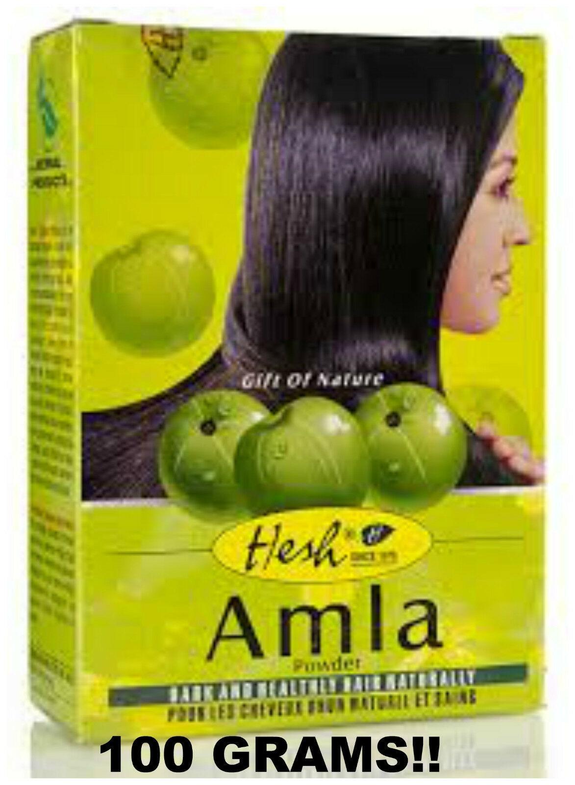 2 BOXES! Hesh Amla Powder 100g Indian Gooseberry Emblic Myrobalan USA SELLER