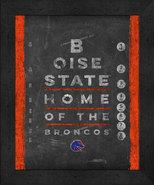 "Boise State Broncos 13x16 College ""Chalkboard Look Eye Chart"" Framed Print - $39.95"