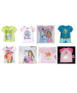 Disney Princesses Toddler Girls T-Shirts Cinderella Ariel More Various S... - $9.79