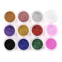 Nail Art Glitter Pots Makeup Decoration Powder Set 12 Mix Colors image 2
