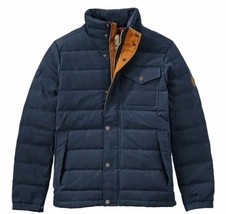 Timberland Men's Mt Davis Waxed Down Jacket, Dark Sapphire. Size: LARGE - $148.50
