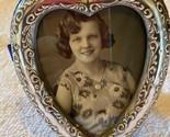 """Vintage Sterling Silver Signed 925 JR Heart Shaped Frame 4"""" by 3 1/3"""""""