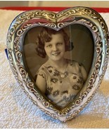 "Vintage Sterling Silver Signed 925 JR Heart Shaped Frame 4"" by 3 1/3"" - £37.79 GBP"