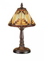 "Meyda Tiffany 66223 Nuevo Mission Mini Table Lamp, 14"" Height - $190.80"