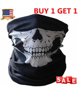 Skull Tubular Mask Bandana Motorcycle Scarf Face Neck Warmer GHOSTS Call... - $13.85