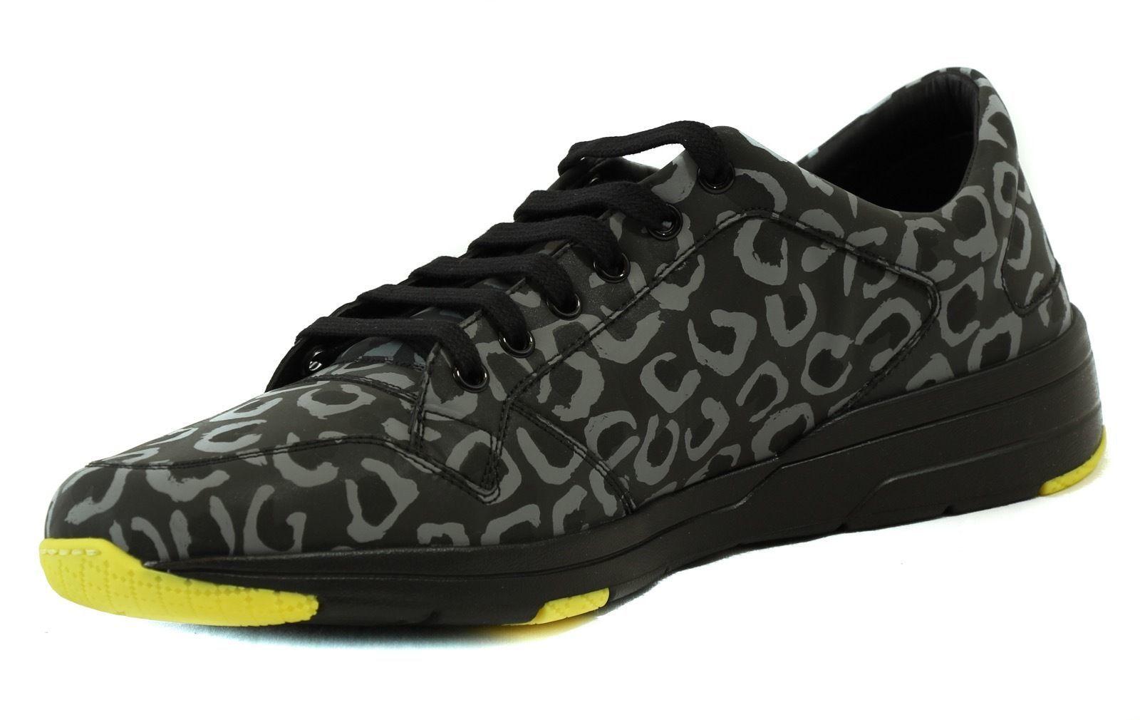6364dabe775 ... NIB GUCCI 375083 Men s Lace Up Reflex Leopard Print Sneaker Shoes
