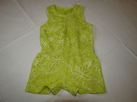 Calvin Klein Jeans girls green white 4 romper 3811042-99 NWT youth kids *^ - $20.78