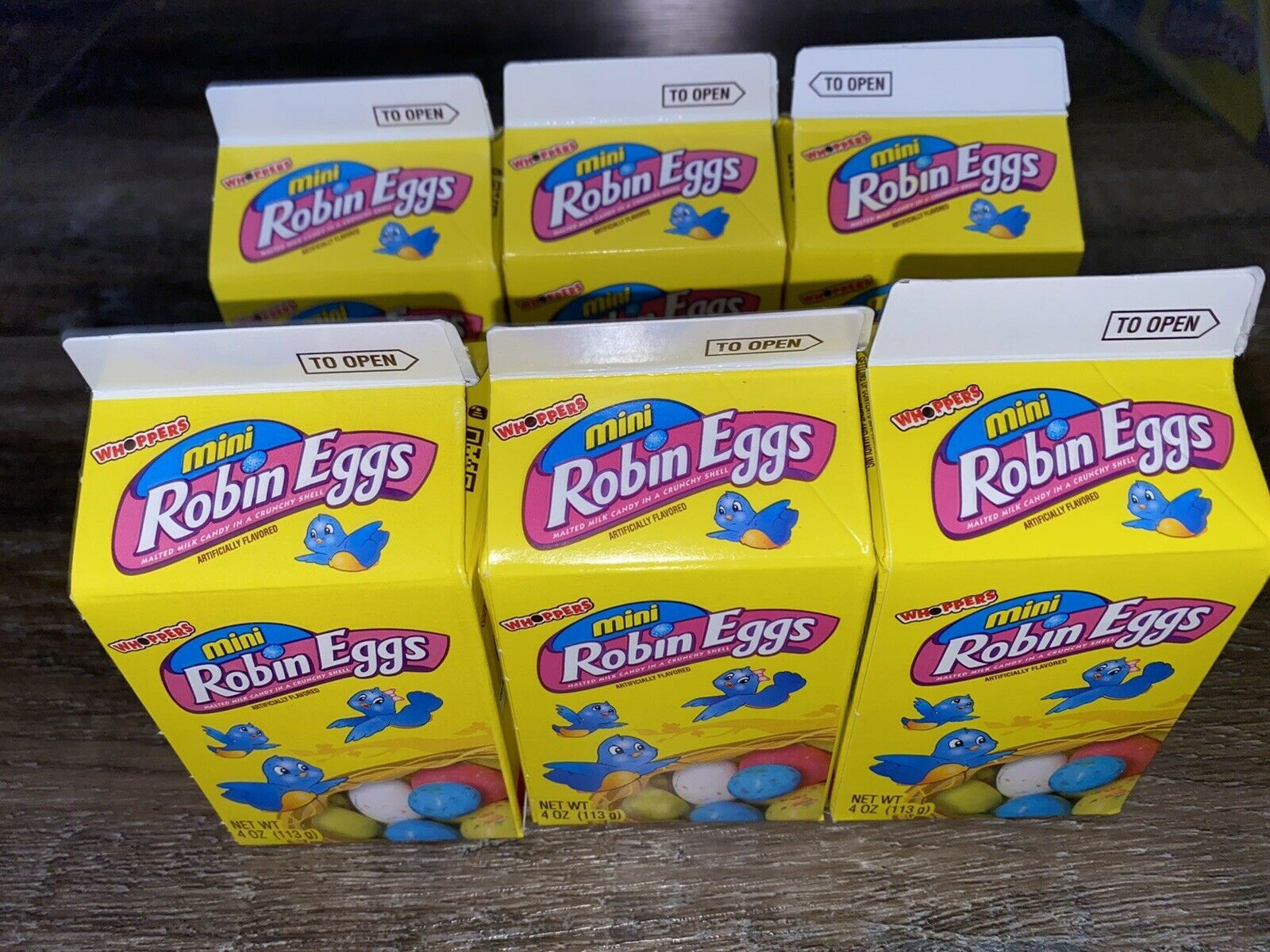 Primary image for Whoppers ~ Mini Robin Eggs 6-Boxes 24 oz. Easter Candy ~ Expires 02/2021