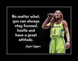 Inspirational Skylar Diggins Basketball Motivation Quote Poster Daughter... - $19.99+