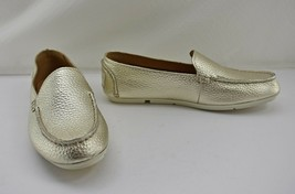 Sperry Top-Sider Metallic Gold Leather Loafer Slip On Shoes - Women's 6.... - $56.95
