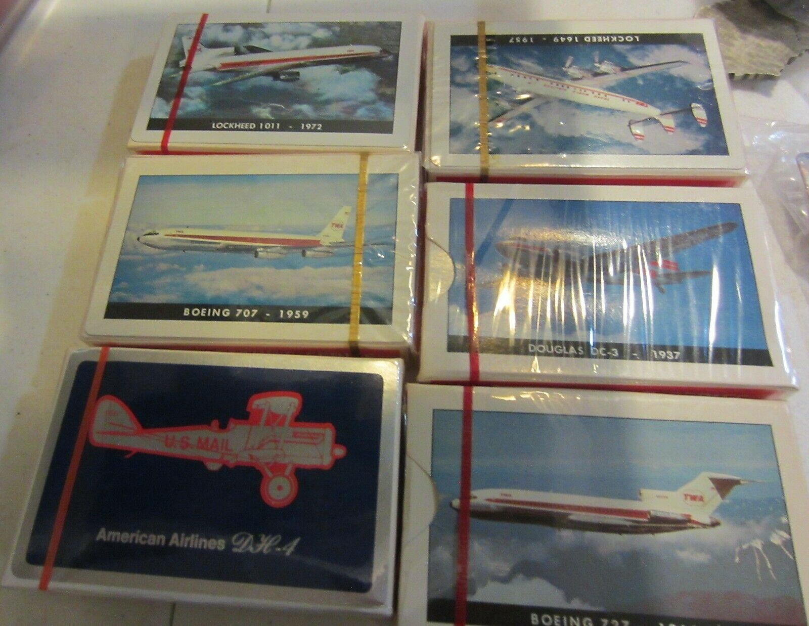 Primary image for Vintage TWA Playing Cards Collection Series douglas dc-3 boeing 707