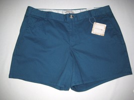 "Dockers Women's ""Fun All Around"" Shorts 12 Teal Blue Green NEW - $21.77"