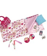 "Our Generation Sleepover Set with Sleeping Bag for 18"" Dolls Polka Dot S... - $37.57"