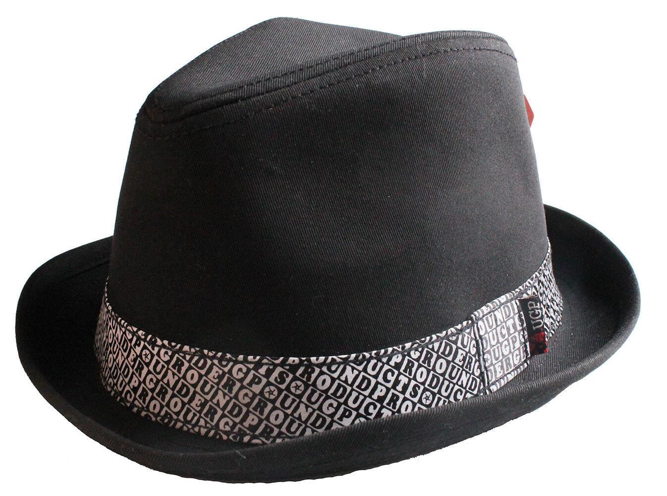 UGP Sotto Terra Prodotti Grems Uomo Nero e Bianco Ska Cappello Fedora Nwt