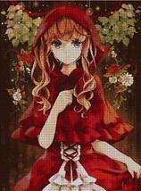 Little Red Ridding Hood anime stitch pattern pdf -Chart Needlework Craft - $7.00