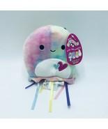 "Squishmallow Janet Jellyfish Plush Tie Dye Valentine's Hearts 5"" Kellytoy NWT - $11.50"