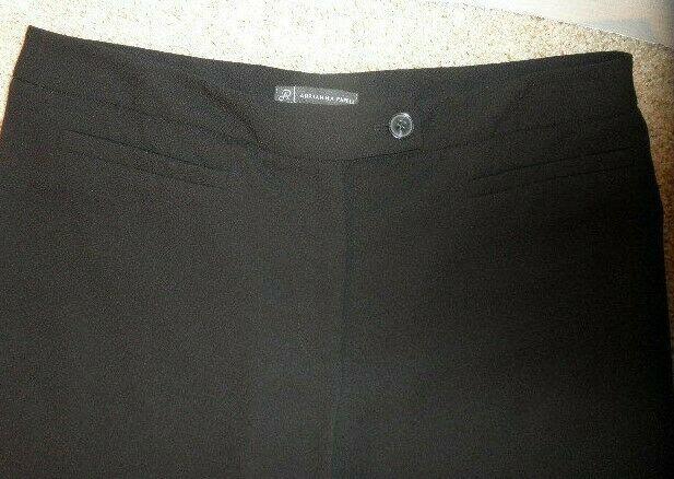 Womens Size 10 Adrianna Papell Lightweight BLACK Dress Pants - No Pockets image 5