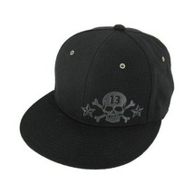 Lucky 13 Skull Thirteen Metal Rivet Tattoo Star Rockabilly Goth Trucker Hat Cap - $32.75