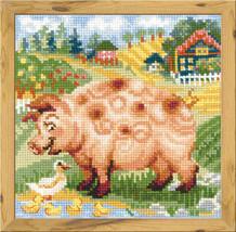 Cross Stitch Kit Riolis The Farm. Piglet Animals - $27.00