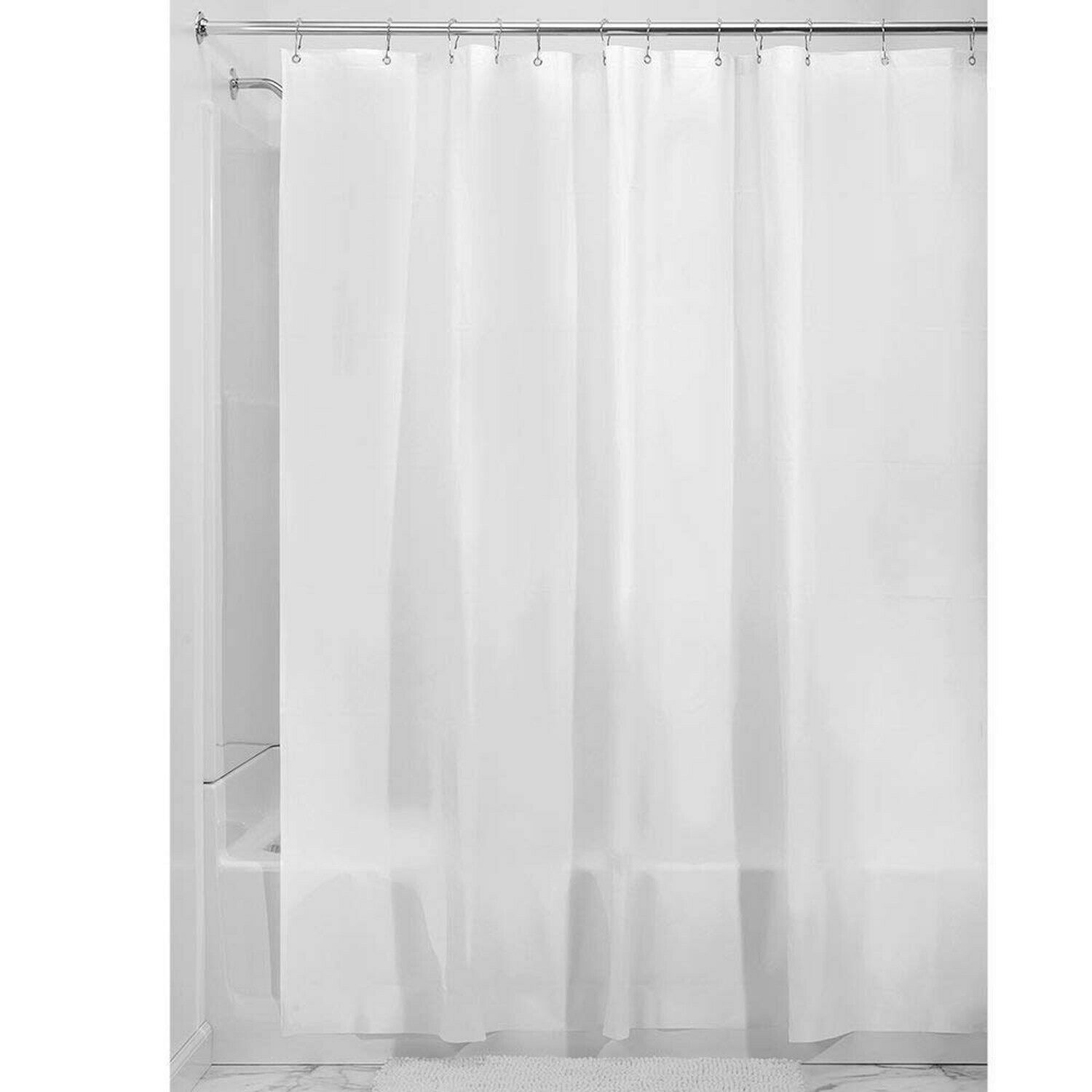 InterDesign 15262 Frost Extra Long Shower Curtain Liner