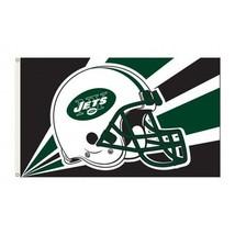 New York Jets Premium Helmet Flag 3x5' NFL Banner - $527,29 MXN