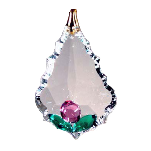 Enhanced 38mm Clear Crystal Arrowhead Decoration