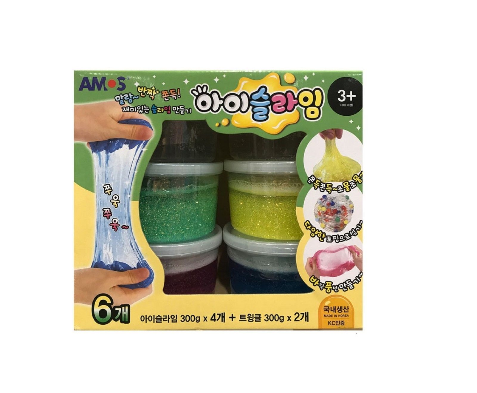 Amos Fluffy Liquid Monster Twinkle iSlime Slime Toy Set (Count of 6)