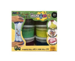 Amos Fluffy Liquid Monster Twinkle iSlime Slime Toy Set (Count of 6) image 1