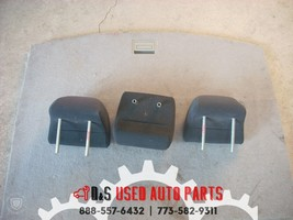 2009 MITSUBISHI LANCER GTS SET OF 3 REAR BACK HEADRESTS OEM