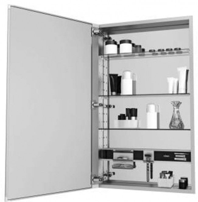 "Primary image for Robern MC1630D4FPLE2 MC Series Medicine Cabinet 30""H x 16""L x 4""D Flat, Polished"