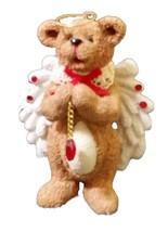 Kurt Adler Angel Bear Heart Ornament Figurine Resin Retired gift for mom - $10.98