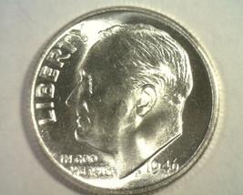 1946 ROOSEVELT DIME GEM UNCIRCULATED GEM UNC. NICE ORIGINAL COIN FROM BO... - $15.00