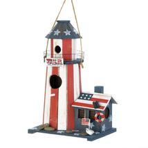 Birdhouse - Patriotic Lighthouse - $17.95