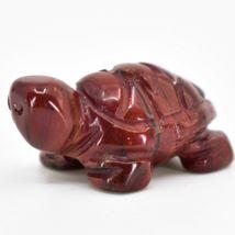 Rainbow Jasper Gemstone Tiny Miniature Turtle Hand Carved Stone Figurine image 3