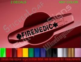 Firemedic Star Of Life Fire Emt Door Handle Decals Medic Firefighting Car Decal - $6.99