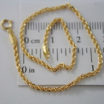 18K YELLOW GOLD BRACELET, 2MM BRAID ROPE LINK, 7.30 INCHES LONG, MADE IN... - $84.00
