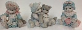 Enesco Vintage Calico Kittens Cat Figurine Set of 3 Friendship - $27.72