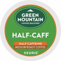 GREEN MOUNTAIN COFFEE ROASTERS HALF CAFF SINGLE SERVE MEDIUM ROAST KCUPS - $17.29+