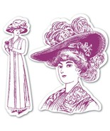 Sizzix Framelits Die Set 2PK with Stamps - Lady with Hats by Hero Arts - $12.86