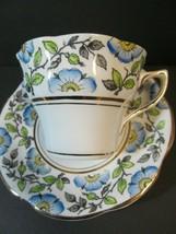 Rosina Bone China Flowers 498 Pattern Cup Saucer Set Floral England Vintage - $18.81