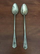 Vintage RC Co Long Spoons Set Of 2 Silver Plated - $3.96